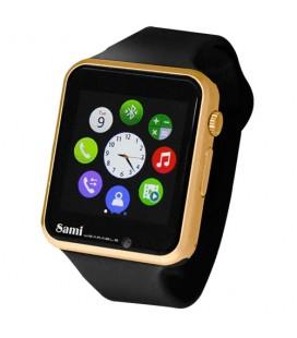 Reloj Smartwatch Sami Glaze WS2308 negro/ oro rosa
