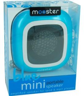 Mini altavoz portatil Mooster amplificado jack 3.5 azul