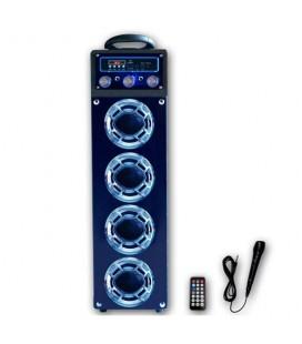 Altavoz bluetooth Sami RS 10902 azul karaoke